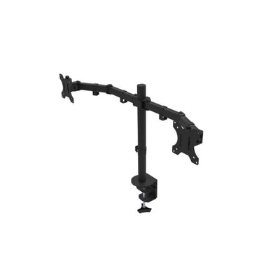 Rocelco DM2 Dual Monitor Arm Front Side View Facing Left