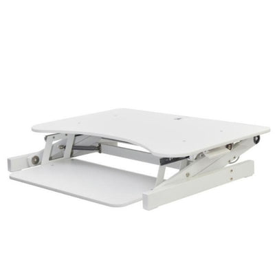 Rocelco EADR Ergonomic Adjustable Desk Riser 3D View Collapsed