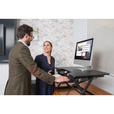 Rocelco EADR Ergonomic Adjustable Desk Riser 3D View Group