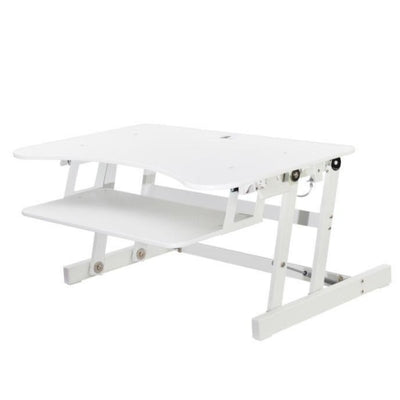 Rocelco EADR Ergonomic Adjustable Desk Riser 3D View Rise White