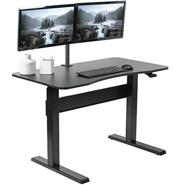 VIVO 47 Inch Pneumatic Desk 3D View Close Up