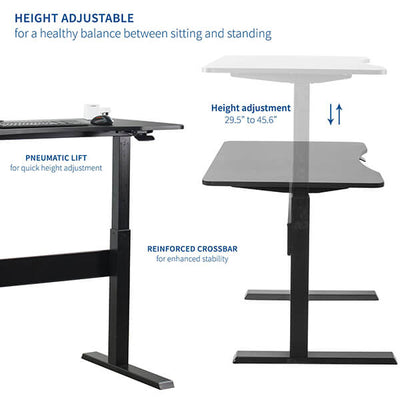 VIVO 47 Inch Pneumatic Desk Height Setting