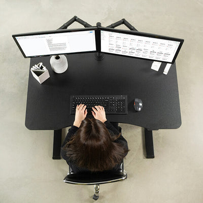 VIVO 47 Inch Pneumatic Desk Top View