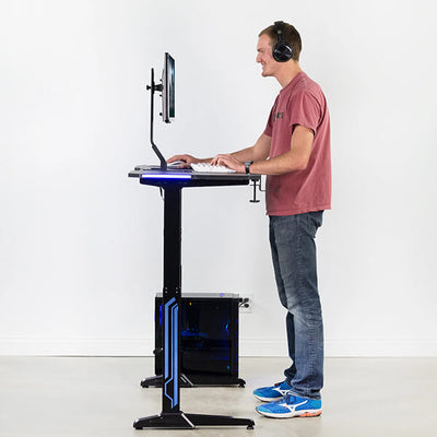 VIVO Electric Sit-Stand Gaming Desk Standing