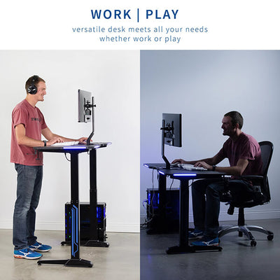 VIVO Electric Sit-Stand Gaming Desk Work And Play