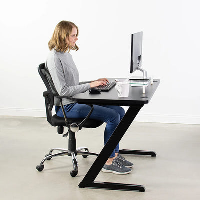 VIVO Z-Shaped 47 Gaming Computer Desk DESK-GM1ZB Side View