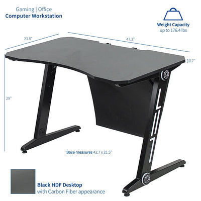 VIVO Z-Shaped 47 Gaming Computer Desk DESK-GMZ0B Dimension