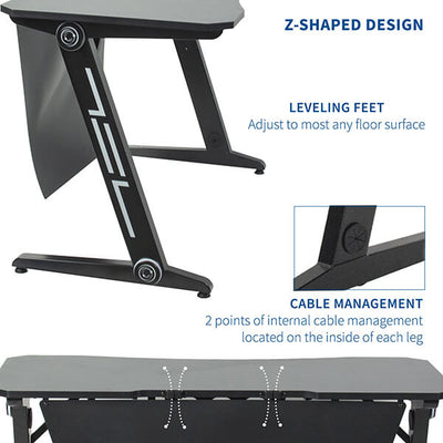 VIVO Z-Shaped 47 Gaming Computer Desk DESK-GMZ0B Legs