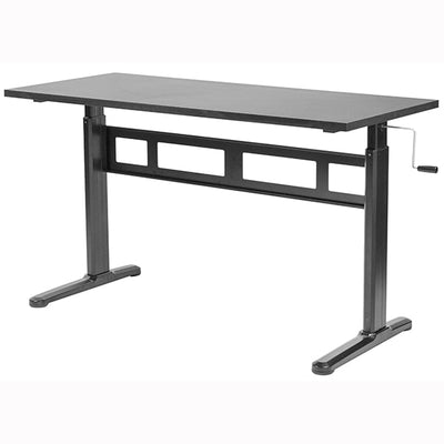 VIVO Black 55 Crank Height Adjustable Desk 3D View