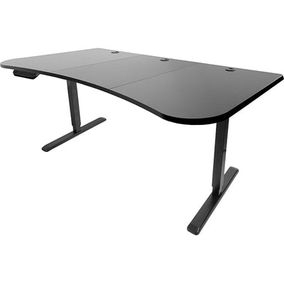 VIVO Black 63 Electric Height Adjustable Desk 3D View