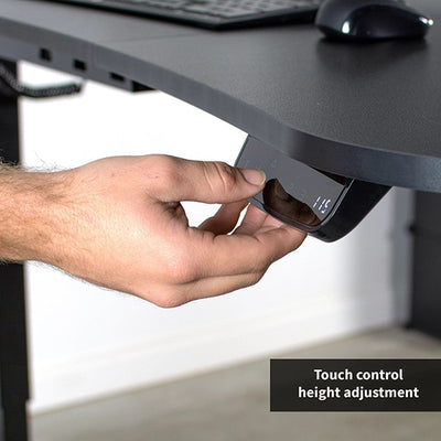 VIVO Black 63 Electric Height Adjustable Desk Touch Control