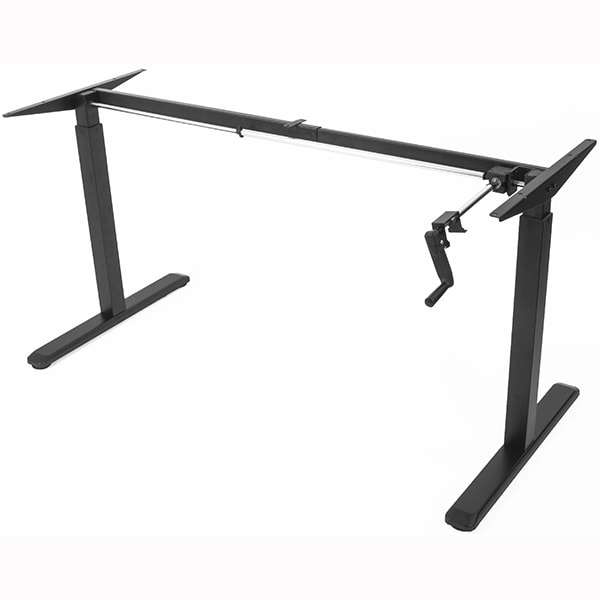VIVO Crank Height Adjustable Desk Base Black 3D View