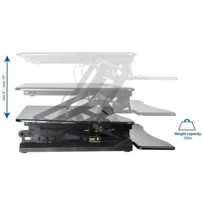 VIVO DESK-V000DB Deluxe Standing Desk Converter Height And Weight