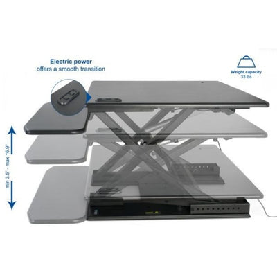 VIVO DESK-V000EB Electric Standing Desk Converter height And Weight Setting