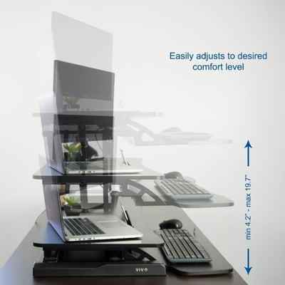 VIVO DESK-V000K Standing Desk Converter max Height