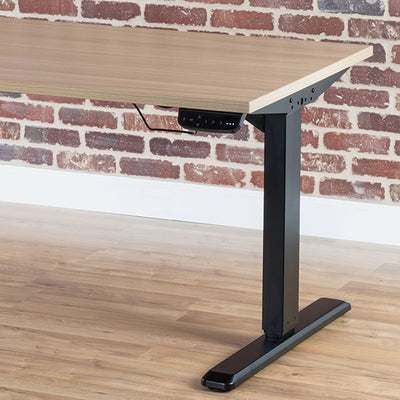 VIVO Dual Motor Electric Desk Base Black Front View Touch Control