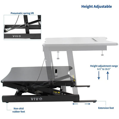 VIVO Single Top 22 Laptop Desk Riser Adjustable Height
