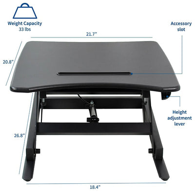 VIVO Single Top 22 Laptop Desk Riser Dimension