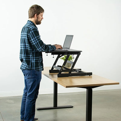 VIVO Single Top 22 Laptop Desk Riser Standing