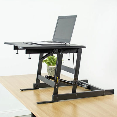 VIVO Single Top 22 Laptop Desk Riser Top Front Side View Rise