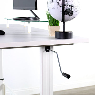 VIVO White 55 Crank Height Adjustable Desk Crank Close Up