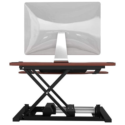 VersaDesk Power Pro 36 inch Electric Standing Desk Converter Cherry Back View