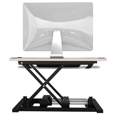 VersaDesk Power Pro 36 inch Electric Standing Desk Converter Gray Back View