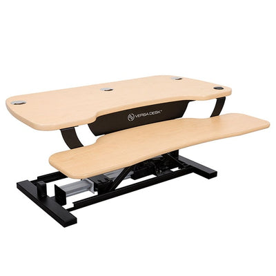 VersaDesk Power Pro 36 inch Electric Standing Desk Converter Maple 3D View