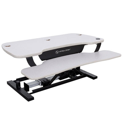 VersaDesk Power Pro 36 inch Electric Standing Desk Converter White 3D View