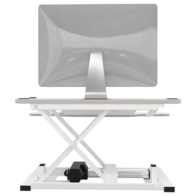 VersaDesk Power Pro 36 inch Electric Standing Desk Converter White Back View