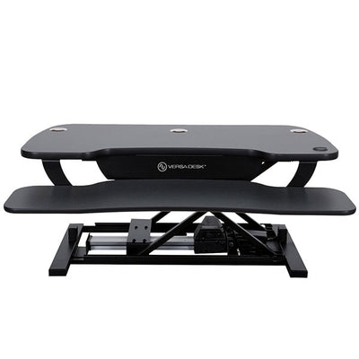 VersaDesk Power Pro 48 inch Electric Standing Desk Converter Black Front View