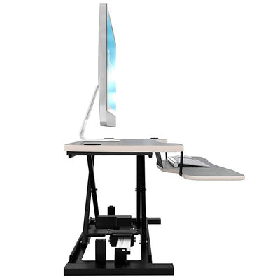 VersaDesk Power Pro 48 inch Electric Standing Desk Converter Gray Side View