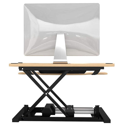 VersaDesk Power Pro 48 inch Electric Standing Desk Converter Maple Back View