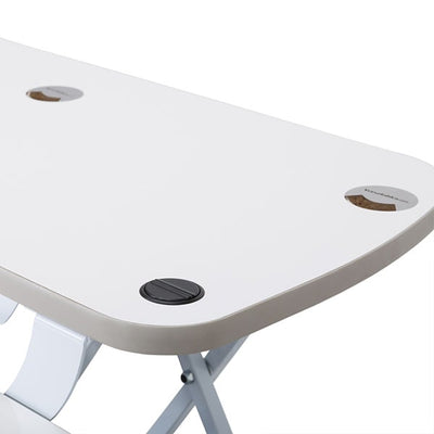 VersaDesk Power Pro 48 inch Electric Standing Desk Converter White Close Up