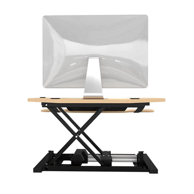 VersaDesk Power Pro Corner 36 inch Electric Maple Back View