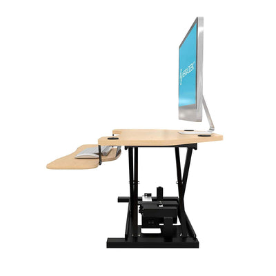 VersaDesk Power Pro Corner 36 inch Electric Maple Left Side View