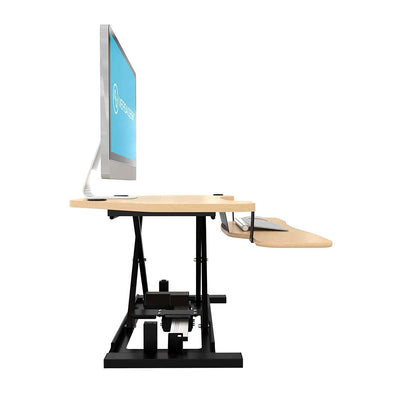 VersaDesk Power Pro Corner 36 inch Electric Maple Right Side View