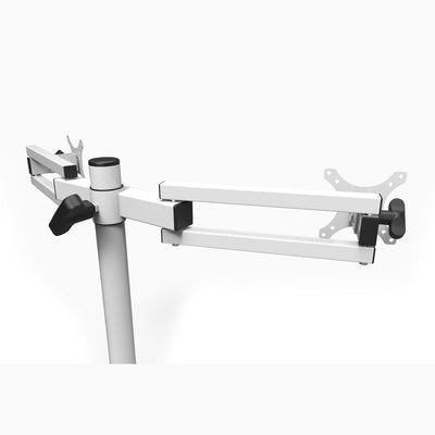 VersaDesk Universal Dual LCD Spider Monitor Arm White Back Side View