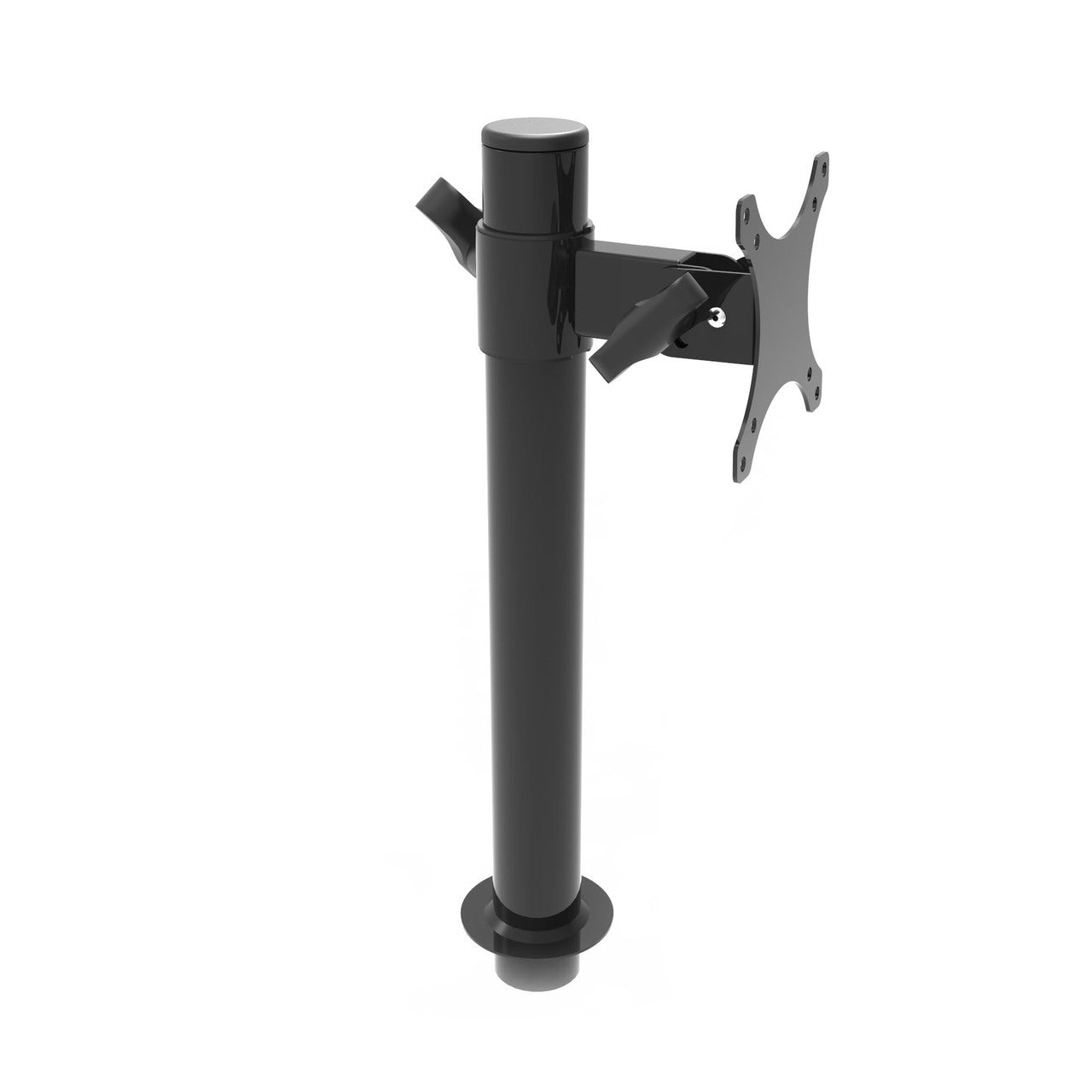 VersaDesk Universal Single LCD Monitor Arm Black Side View