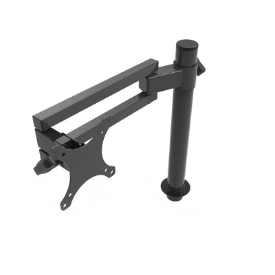 VersaDesk Universal Single LCD Spider Monitor Arm Black Front View