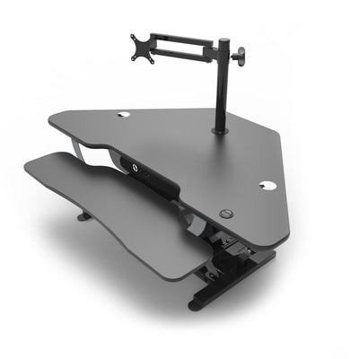 VersaDesk Universal Single LCD Spider Monitor Arm Black On Desk