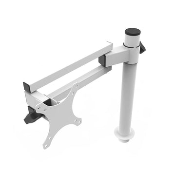 VersaDesk Universal Single LCD Spider Monitor Arm White Front View