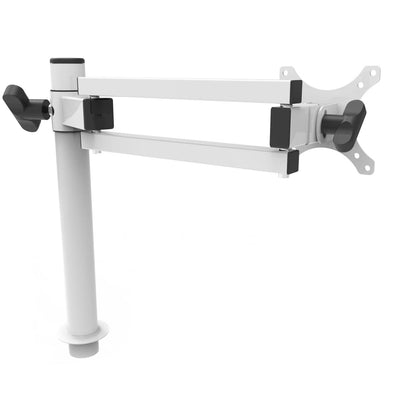 VersaDesk Universal Single LCD Spider Monitor Arm White Right Side View