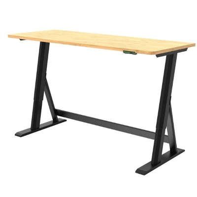 Vivistand Duo Standing Desk Bamboo Black Base