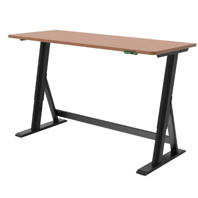 Vivistand Duo Standing Desk Clear Walnut Black Base