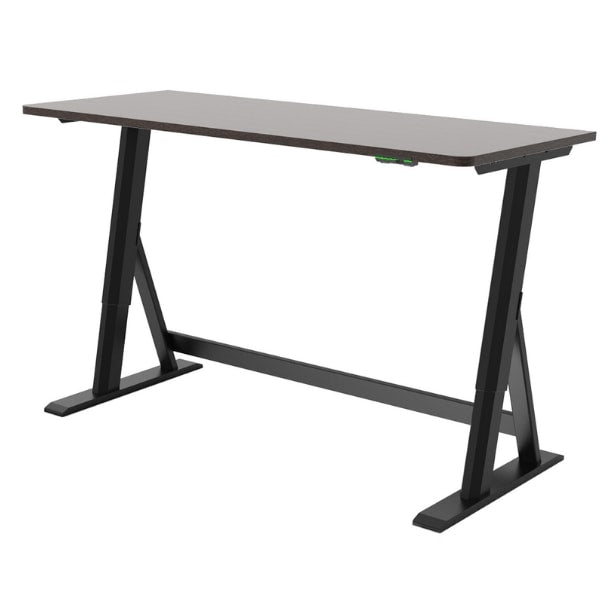 Vivistand Duo Standing Desk Dark Walnut Black Base