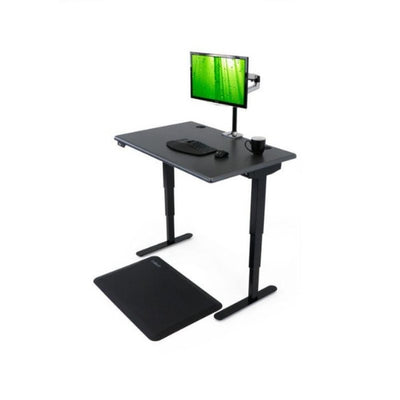 iMovR Energize Standing Desk 3D View Black Facing Left