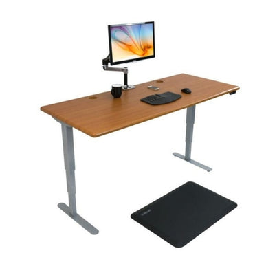 iMovR Energize Standing Desk 3D View facing Right With Mat