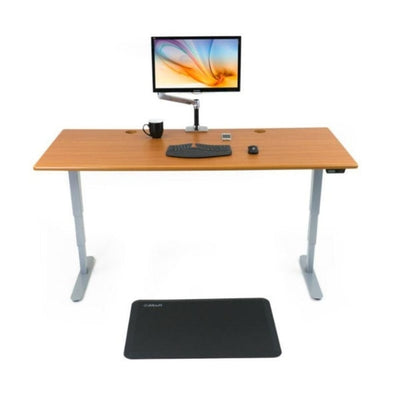iMovR Energize Standing Desk Front View With Mat