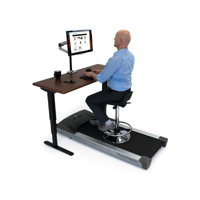 iMovR Energize Treadmill Desk Workstation 3D View Sitting Facing Left